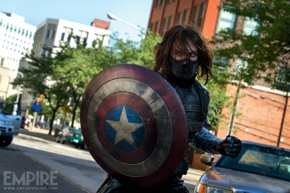 "Sebastian Stan as The Winter Soldier in ""Captain America: The Winter Soldier."" Photo Credit: Empire Magazine"