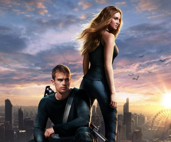 "Shailene Woodley and Theo James as Tris Prior and Four in the promo poster for the film ""Divergent."" Photo Credit: Summit Entertainment"