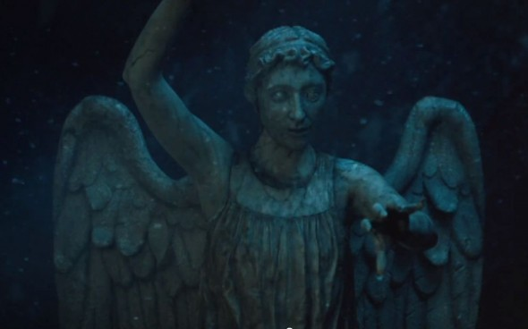 "The Weeping Angels from the Doctor Who Christmas Special entitled ""The Time of the Doctor"". Photo Credit: BBC"