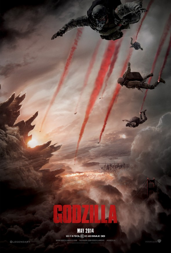 "Official Poster for the film ""Godzilla"". Photo Credit: Warner Bros."