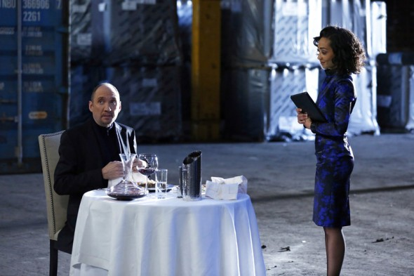 "Cullen Douglas and Ruth Negga as Edison Po and Raina in the Winter Finale Episode of ""Marvel's Agents of S.H.I.E.L.D."" entitled ""The Bridge."" Photo Credit: ABC/Justin Lubin"