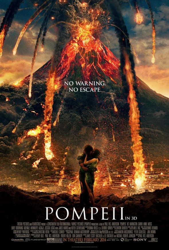 "Promo Poster for the film ""Pompeii"". Photo Credit: Sony Pictures Entertainment/FilmDistrict"