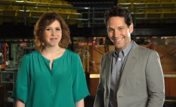 Paul Rudd and Vanessa Bayer in the promo for the December 7th episode of 'Saturday Night Live.' Photo Credit: NBC