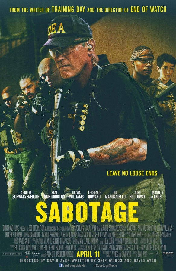 "Promotional Poster for the film ""Sabotage."" Photo Credit: Open Road Films"