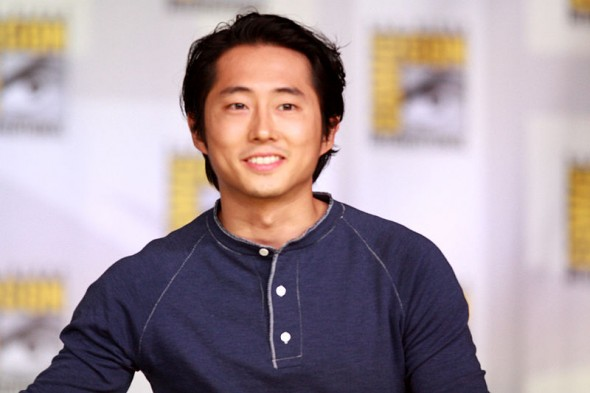 "Steven Yeun speaking at the 2013 San Diego Comic Con International, for Entertainment Weekly's ""Brave New Warriors"" panel, at the San Diego Convention Center in San Diego, California. Photo Credit: Gage Skidmore"
