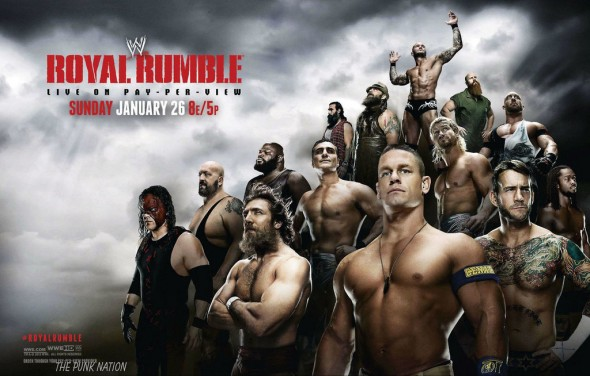 WWE Royal Rumble LIVE Sunday, January 26th 2014.