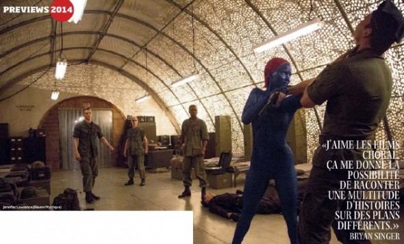 "Jennifer Lawrence as Mystique in ""X-Men: Days of Future Past."" Photo Credit: Studio Cine Live"