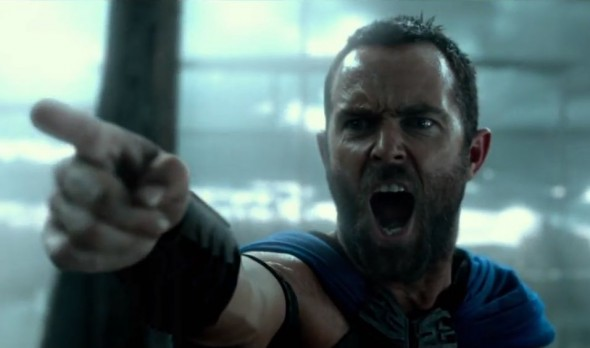 "Sullivan Stapleton as Themistocles in ""300: Rise of an Empire."" Photo Credit: Warner Bros."
