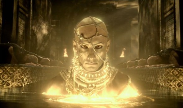 "Rodrigo Santoro as King Xerxes in ""300: Rise of an Empire."" Photo Credit: Warner Bros."