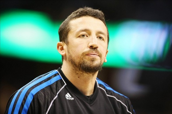 January 9, 2013; Denver, CO, USA; Orlando Magic forward Hedo Turkoglu (15) before the first half against the Denver Nuggets at the Pepsi Center. The Nuggets won 108-105. Mandatory Credit: Chris Humphreys-USA TODAY Sports