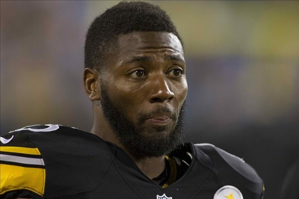Aug 29, 2013; Charlotte, NC, USA; Pittsburgh Steelers free safety Ryan Clark (25) stands on the sidelines during the second quarter in the game against the Carolina Panthers at Bank of America Stadium. Mandatory Credit: Jeremy Brevard-USA TODAY Sports