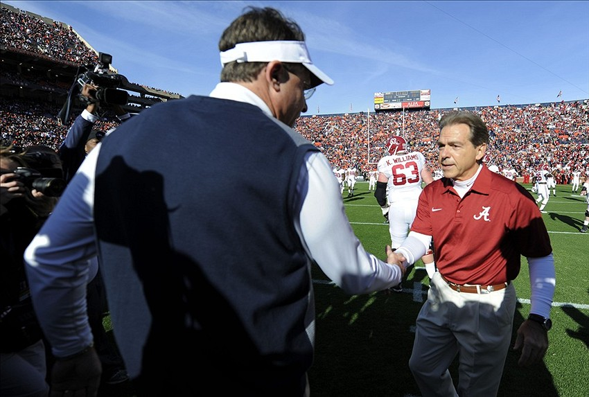 Nick Saban and Gus Malzahn
