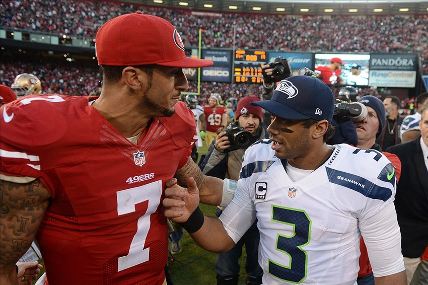 Colin Kaepernick and Russell Wilson