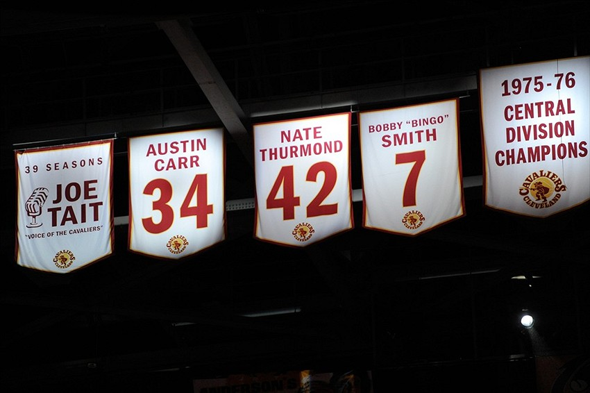 Cavs Retired Number Banner Disappeared During Wwe Raw