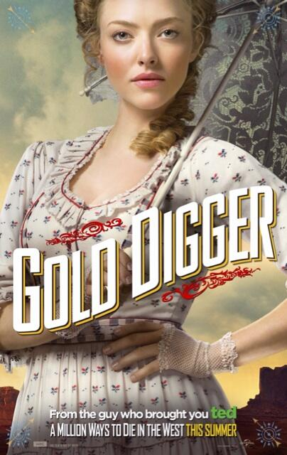 "Amanda Seyfried in a Character Poster for ""A Million Ways to Die in the West."" Photo Credit: Universal Pictures"