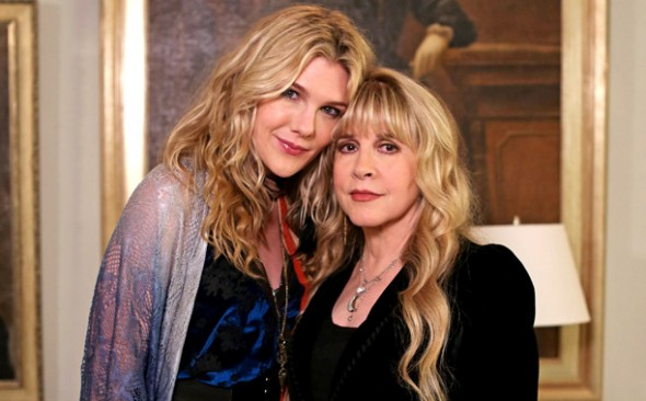 "Lily Rabe as Misty Day along with Stevie Nicks on ""American Horror Story: Coven."" Photo Credit: Michele K. Short/FX"