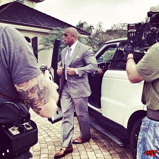 "Dwayne Johnson in the pilot episode for his new HBO series entitled ""Ballers."" Photo Credit: Dwayne Johnson (Facebook)"