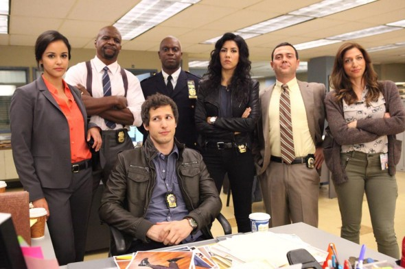 The cast of the Fox series Brooklyn Nine-Nine. Photo Credit: Beth Dubber/FOX