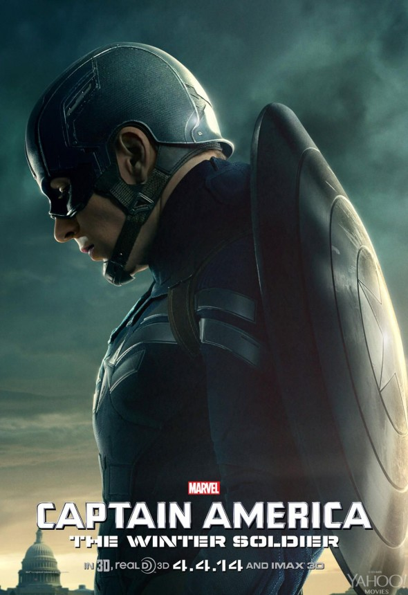 "Chris Evans in a Character Poster for ""Captain America: The Winter Soldier."" Photo Credit: Marvel via Yahoo! Movies"