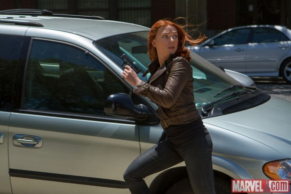 "Scarlet Johansson as Black Widow in the film ""Captain America: The Winter Soldier."" Photo Credit: Marvel"