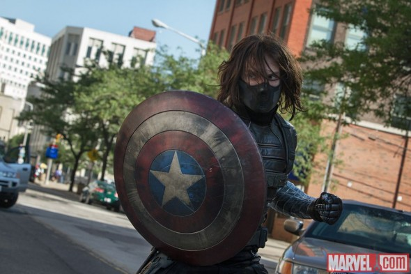 "Sebastian Stan as The Winter Soldier in the film ""Captain America: The Winter Soldier."" Photo Credit: Marvel"