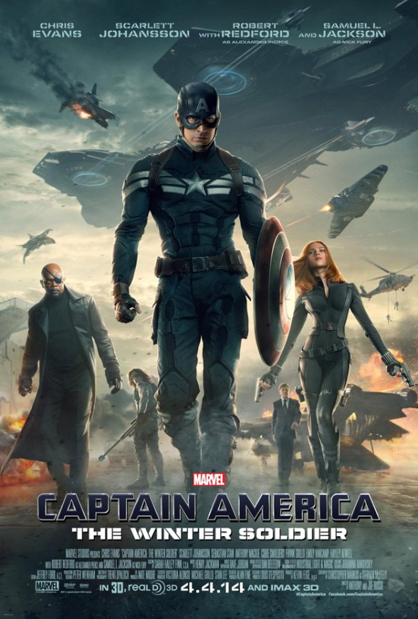 "U.S. Promo Poster for ""Captain America: The Winter Soldier."" Photo Credit: Marvel"