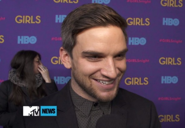 "Evan Jonigkeit at the premiere of the HBO series ""Girls"" Photo Credit: MTV News"