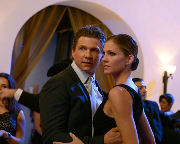 "Tricia Helfer and Marc Blucas as Molly Parker and Dan Winston in Season 1, Episode 2 of ""Killer Women"" entitled ""Some Men Need Killing."" Photo Credit: ABC/Ursula Coyote"