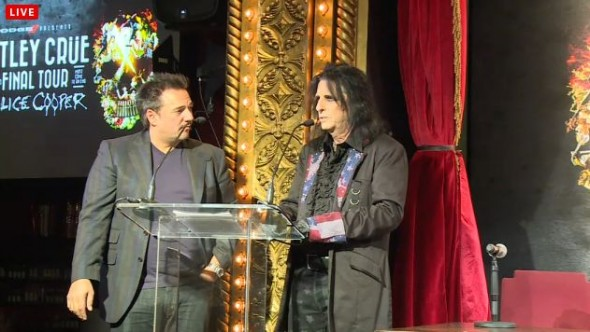 Motley Crue Press Conference - Alice Cooper