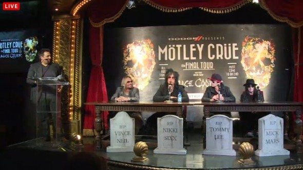 Motley Crue Press Conference - Motley Crue