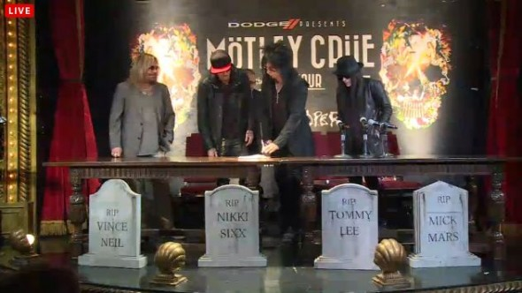 Motley Crue Press Conference - Signing