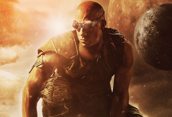 "Vin Diesel as Riddick in a promotional poster for the film ""Riddick."" Photo Credit: Universal"