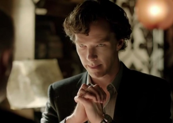 "Benedict Cumberbatch as Sherlock Holmes in Series 3 Episode 2 of ""Sherlock."" Photo Credit: PBS Masterpiece"