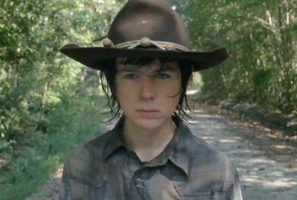 "Chandler Riggs as Carl Grimes in Season 4 of ""The Walking Dead."" Photo Credit: AMC"