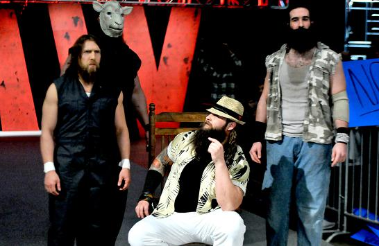 Daniel Bryan and The Wyatt Family from WWE Old School.