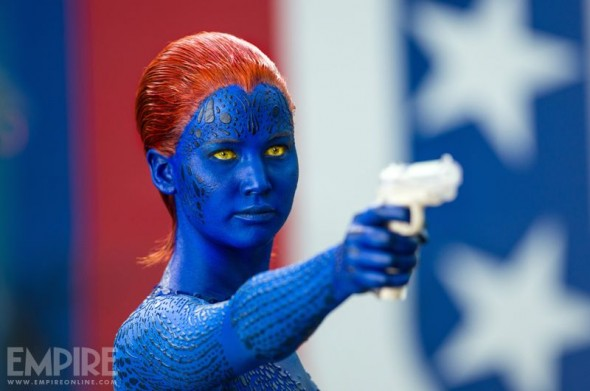 "Jennifer Lawrence as Mystique in ""X-Men: Days of Future Past."" Photo Credit: Marvel via Empire Magazine"