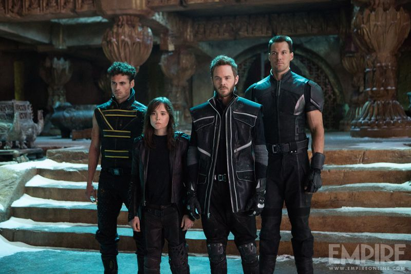 Adan Canto, Ellen Page, Shawn Ashmore, and Daniel Cudmore as Sunspot ...