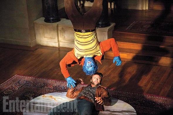 "Hugh Jackman and Nicholas Hoult as Wolverine and Beast in ""X-Men: Days of Future Past"" Photo Credit: Entertainment Weekly"