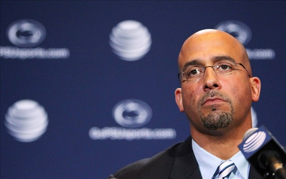 Jan 11, 2014; State College, PA, USA; James Franklin is announced as the Penn State Nittany Lions new head coach during a press conference at Beaver Stadium. Mandatory Credit: Matthew O
