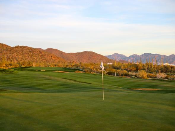 The eleventh green at Dove Mountain. Bernie D'Amato - FanSided.com.