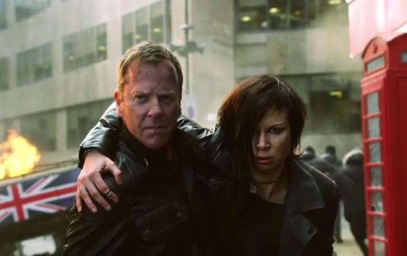 "Kiefer Sutherland and Mary Lynn Rajskub as Jack Bauer and Chloe O'Brian in the series ""24: Live Another Day."" Photo Credit: Fox"