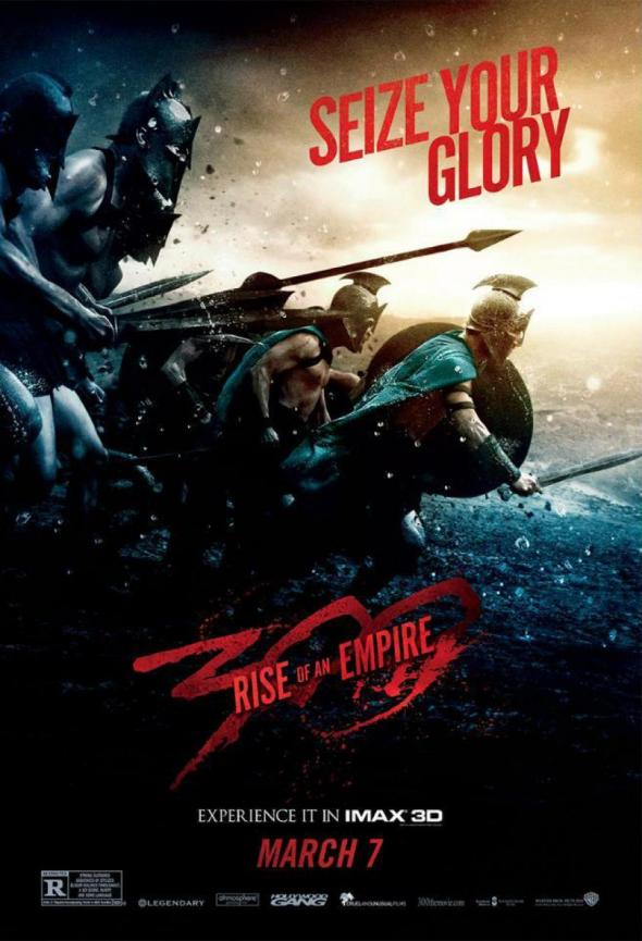 "IMAX Poster for the upcoming film ""300: Rise of an Empire."" Photo Credit: Warner Bros."