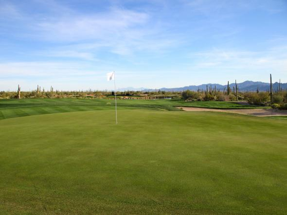 The fourth green at Dove Mountain. Bernie D'Amato - FanSided.com.