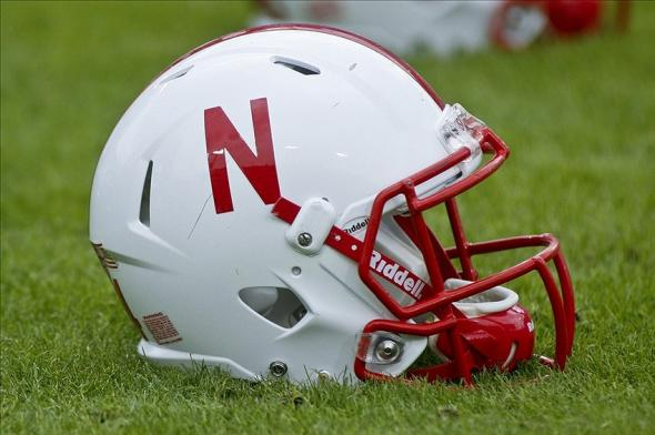 Jan 1, 2014; Jacksonville, FL, USA; A Nebraska Cornhuskers helmet sits on the field before the start of their game against the Georgia Bulldogs at EverBank Field . Mandatory Credit: Phil Sears-USA TODAY Sports