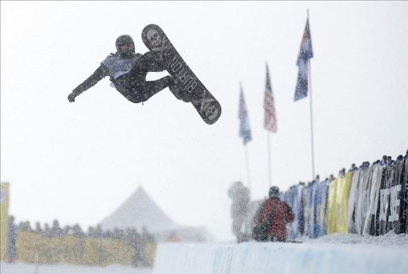 Jan 8, 2014; Breckenridge, CO, USA; Shaun White of the United States during men