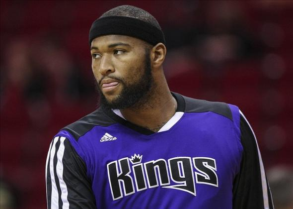 Jan 22, 2014; Houston, TX, USA; Sacramento Kings center DeMarcus Cousins (15) warms up before a game against the Houston Rockets at Toyota Center. Mandatory Credit: Troy Taormina-USA TODAY Sports