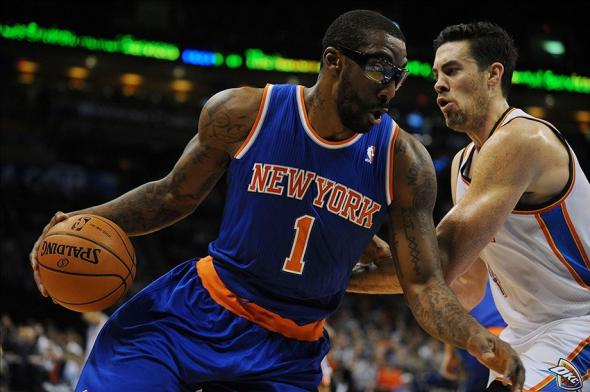 Feb 9, 2014; Oklahoma City, OK, USA; New York Knicks power forward Amare Stoudemire (IS PRESSWIRE)
