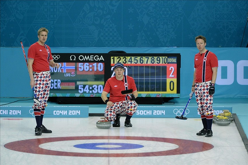 Olympic Curl Sochi Olympics Men's Curling