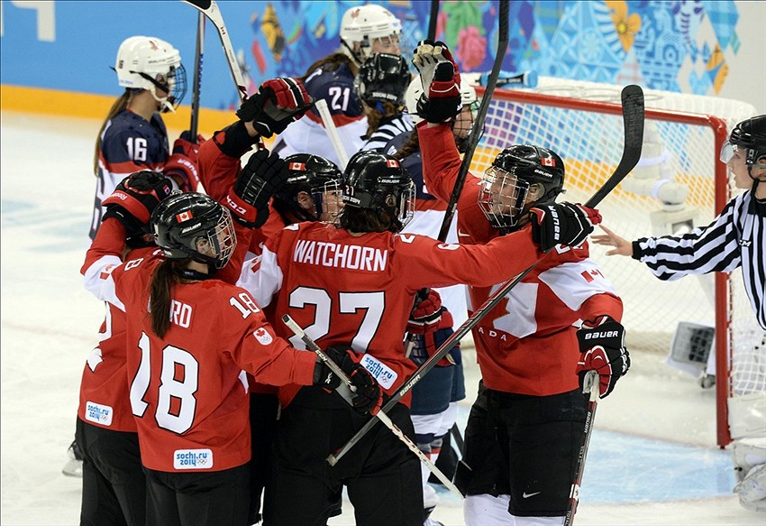 Sochi Olympics, women's hockey Canada vs. Switzerland ...