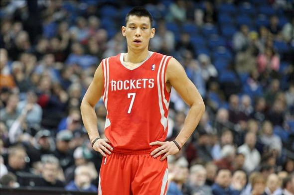 Feb 10, 2014; Minneapolis, MN, USA; Houston Rockets guard Jeremy Lin (7) against the Minnesota Timberwolves at Target Center. The Rockets defeated the Timberwolves 107-89. Mandatory Credit: Brace Hemmelgarn-USA TODAY Sports